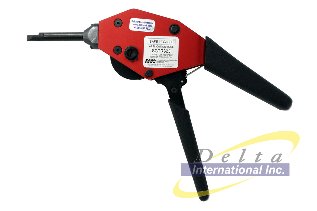 DMC SCTR323 - Adjustable Tension, Safe-T-Cable Application Tool wit...